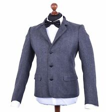 DOLCE & GABBANA Virgin Wool Suit Blazer Jacket Pants Grey 04057