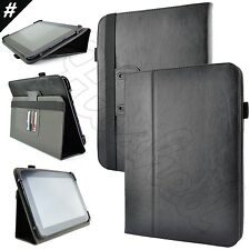 """Luxury Leather Folio Flip Case Stand Cover For 9"""" 9.7"""" 10.1"""" Inch Tablet"""