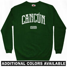 Cancun Mexico Sweatshirt Crewneck - Resort Timeshare Vacation Beach - Men S-3XL