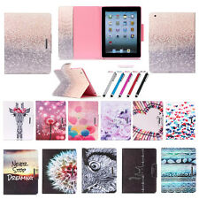 Fashionable Fold Flip Stand Cover Pink TPU+PU Leather Tablet Case For Apple iPad