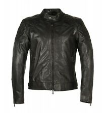NEW MENS BELSTAFF/DAVID BECKHAM THE OUTLAW WAXED LEATHER JACKET - BLACK