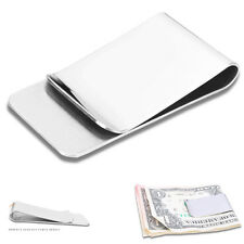 High Quality Slim Money Clip Credit Card Holder Wallet New Stainless Steel POP