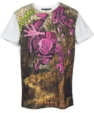 Frankie Morello Mens Summer T-Shirt In White With Funny Print