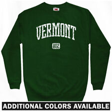 Vermont 802 Sweatshirt Crewneck - VT Burlington UVM Killington Stowe - Men S-3XL