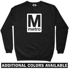 Washington DC Metro Sweatshirt Crewneck - 202 WMATA Subway Graffiti - Men S-3XL