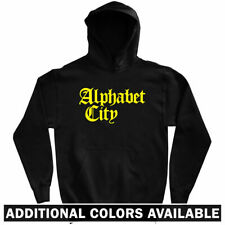 Alphabet City Gothic NYC Hoodie - Manhattan 212 646 New York ABCD NY - Men S-3XL