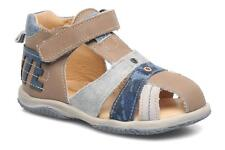 Kids's Babybotte TICTAK Velcro Sandals in Brown