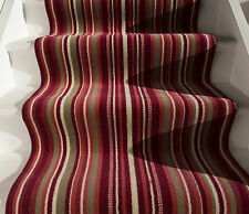 New Red Orange Striped Stair Carpet Runner Rug Narrow Wide Any Length Per Metre