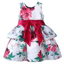 Toddler Baby Girls Kids Bow Flower Princess Dress Party Special Occasion Dresses