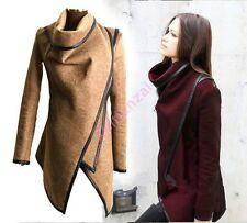 2016 Hot Chic Womens Cape Cloak Poncho Woolen Blend Jacket Trench Loose Coat NEW