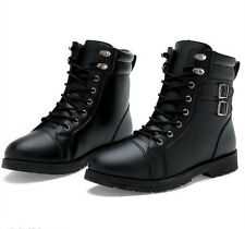 2016 Fashion Men Genuine Leather Suede Outdoor Combat Boots Lace Up Martin Shoes