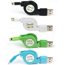 New Retractable USB Data Sync Charger Cable For iPhone 5C 5S 6 iPod Touch Nano 7