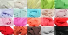 "100% PURE SILK SOLD GEORGETTE CHIFFON FABRIC 45"" 20 COLOR DRESS FASHION THE YARD"