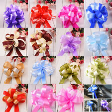 Multi-Color Ribbon Pull Flower Bows Pom Pom Wedding Car Party Decoration Choose