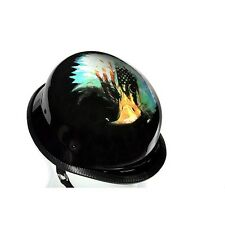German Shiny Novelty Motorcycle Helmet With Eagle & U.S.A Flag  -  Free Shipping