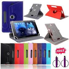 360°Rotatable Universal Leather Stand Case Cover For 7Inch Tab Android Tablet PC