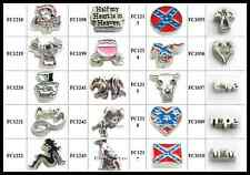 LOT 10PCS new mixed Floating Charms Glass Living Memory Locket free shipping