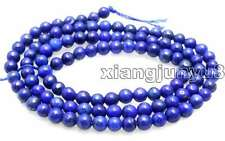 "SALE Small Blue 4mm Round  natural lapis lazuli loose beads strand 15""-los638"