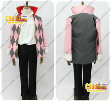 Howl's Moving Castle Howl Cosplay Costume pink & gray