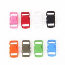 50Pcs 3/8inch Plastic Side Release Buckles for webbing Quick Release Buckles DIY