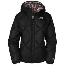 THE NORTH FACE GIRLS REVERSIBLE DOWN MOONDOGGY JACKET BLACK PINK SIZE M XL NEW