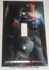 Superman & Batman Light Switch & Power Duplex Outlet Cover Plate