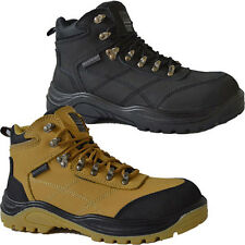 MENS GROUNDWORK SAFETY STEEL TOE CAP BOOTS TRAINERS LACE UP ANKLE WORK SHOES
