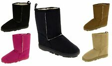 Girls Faux Suede Winter Hugg Boots Warm Faux Fur Lining Size 6 7 8 9 10 11 12 13