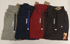 NWT Reebok Sport 1/4 Zip Pullover Athletic Long Sleeve Shirt Sizes & Color Vary