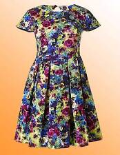New Simply Be Ladies Cut Out Back Floral Print Skater Dress Size 12 UK Multi