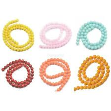 "Round Jade Gem Stone Gemstone Loose Beads 15.5"" Strand Fashion Jewelry Craft DIY"