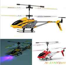 Genuine SYMA Mini Metal RC Remote Control Helicopter Plane with Gyro Light Toy