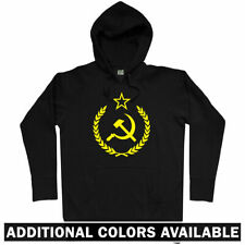 USSR Crest Hoodie - CCCP Soviet Union Russia Russian Communist Army - Men S-3XL