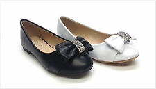 New Kids Girl's Ballerina Rhineston Bow Flats Shoes Size 9 - 4