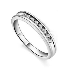 S925 Sterling Silver Pave Setting Cubic Zirconia Girl's Ring/18k GP
