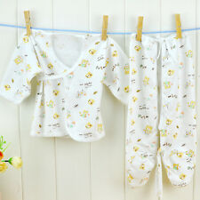 2PCS Boy Girl Clothes 0-3Month Newborn Baby Cotton Underwear Infant Clothing Set