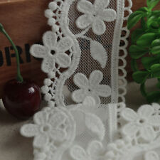 1yard off white lace trim,rose embroidered both sides lace ribbon