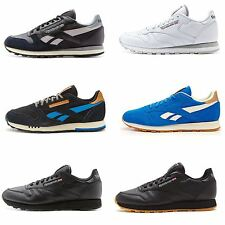Men Reebok Classic Leather Suede Nylon Retro Trainers in All Sizes