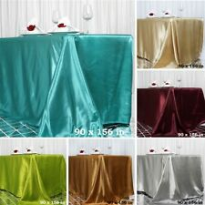 "20 pcs Wholesale Lot 90x156"" RECTANGLE Satin TABLECLOTHS Wedding Party Catering"