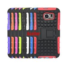 For Samsung Galaxy S6 3D 2-Layer Shock Skip Proof Grenade Rugged Impact TPU Case