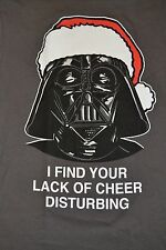 Star Wars Darth Vader Christmas Santa Hat T-Shirt Officially Licensed Adult Tee