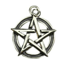 Interwoven Pentagram Pentacle 925 Sterling Silver Gothic Wicca Pagan Pendants