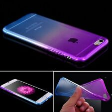 Soft Ultra Thin Ombre Silicone/Gel/Rubber Clear Case Cover For iPhone 5 6 7 Plus