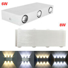 Aluminum 6W 8W Rectangle LED Wall Sconces Lights Hall Porch Walkway Lamp  Fine