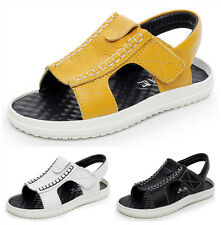 New Kids Childrens Boys Leather Sandals Casual Summer Beach Shoes Non-slip