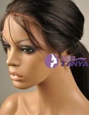 "100% Indian Remy Human Hair 12""-24"" Silky Straight Woman Lace Full/Front Wig"