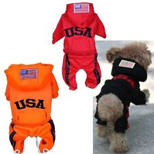 Cute Pet Puppy Dog Cat Jacket Coat Clothes Hoodie Jumpsuit  Sweater Costumes NEW