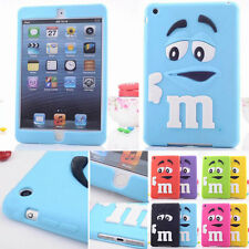 3D Rubber Silicone Soft Cartoon Back Case Cover For Apple iPad 2 3 4 Mini 1 2 3