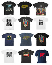 Official Beatles Music T-Shirt Rock Album Design Abbey Rd Sgt Pepper Rubber Soul