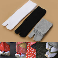 New Fashion Japanese Kimono Flip Flop Sandal Split Toe Tabi Ninja Geta Socks